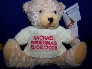 PERSONALISED EMBROIDERED BEARS - Bridesmaid/Page Boy